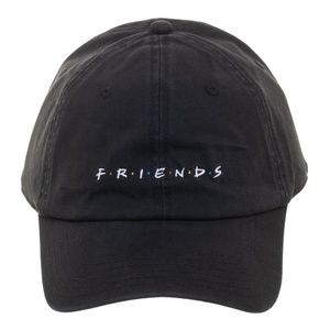 FRIENDS Logo Dad Style Hat Cap Black TV Show NEW